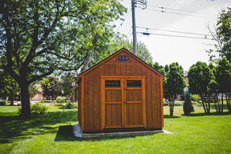 Wood Stained Garden Shed