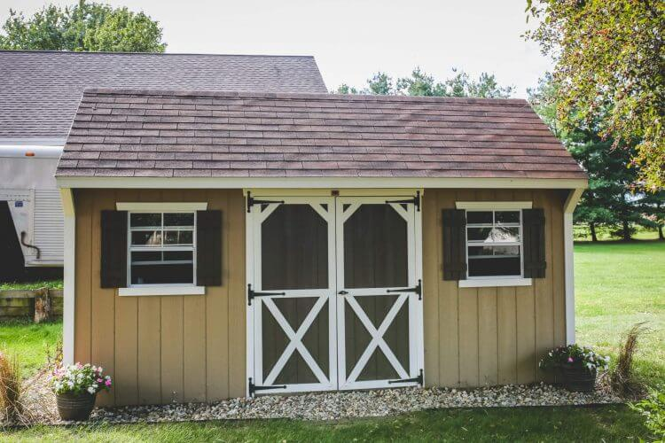 Carriage House with Shingled Roof