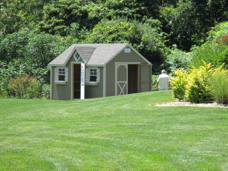 10 X 16 Chalet Storage Building with Shingles
