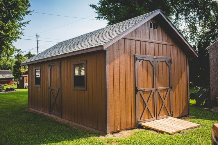 Garden Shed with Shingled Roof