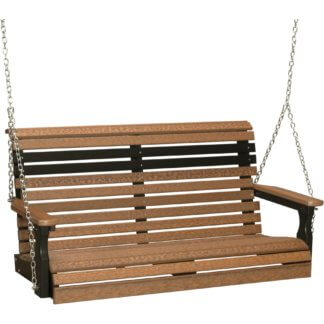 4PPSAMB 4' Plain Poly Swing (Antique Mahogany & Black)