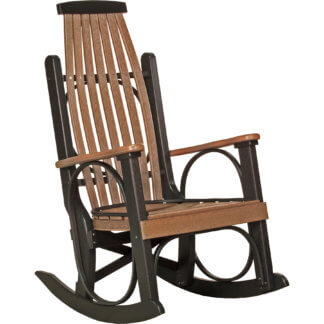 PGRAMB Poly Grandpa's Rocker (Antique Mahogany & Black)