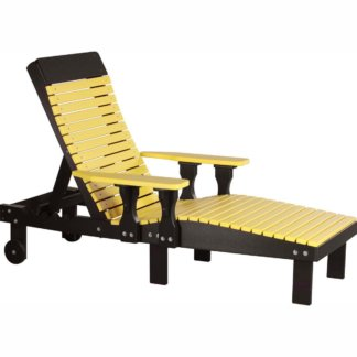LuxCraft Poly Lounge Chair Yellow & Black