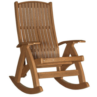 LuxCraft Poly Comfort Rocker Antique Mahogany