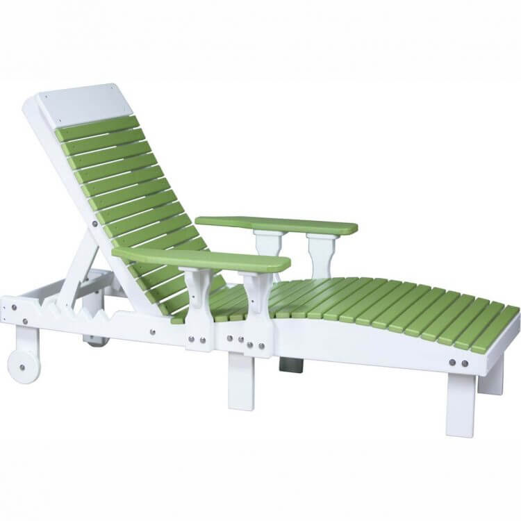 LuxCraft Poly Lounge Chair Lime Green & White