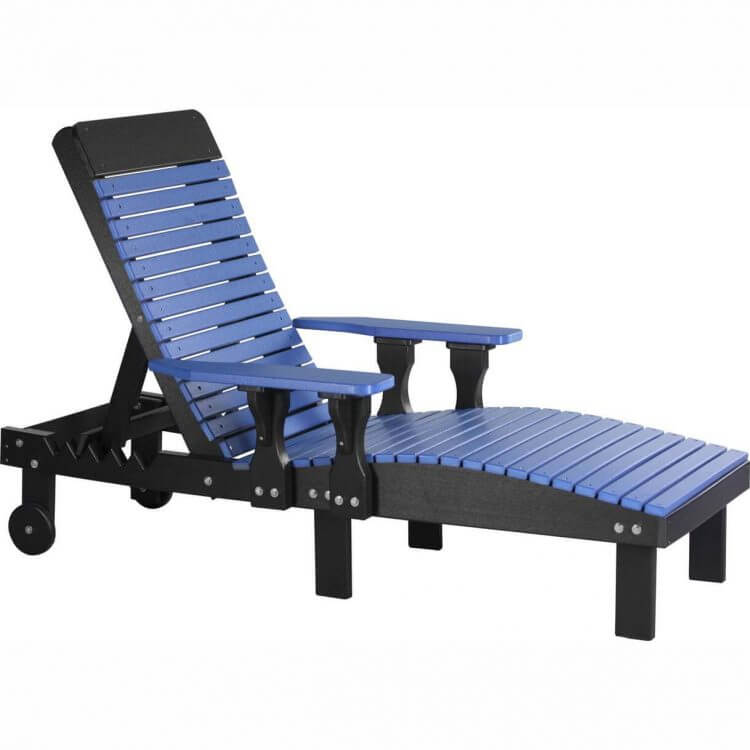 LuxCraft Poly Lounge Chair Blue & Black