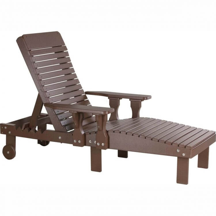 LuxCraft Poly Lounge Chair Chestnut Brown