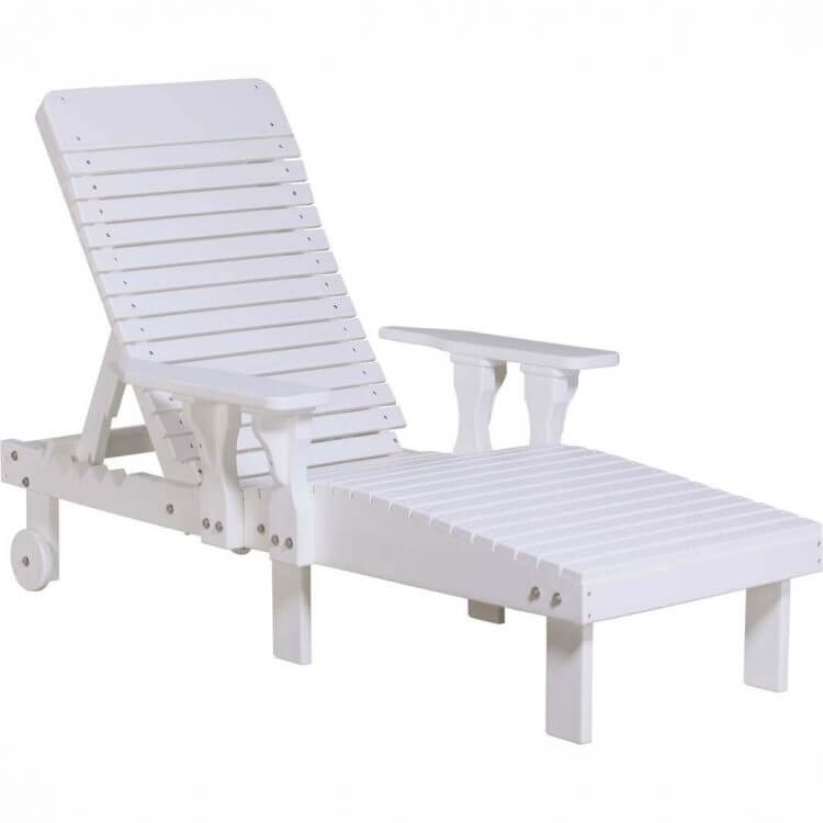 LuxCraft Poly Lounge Chair White