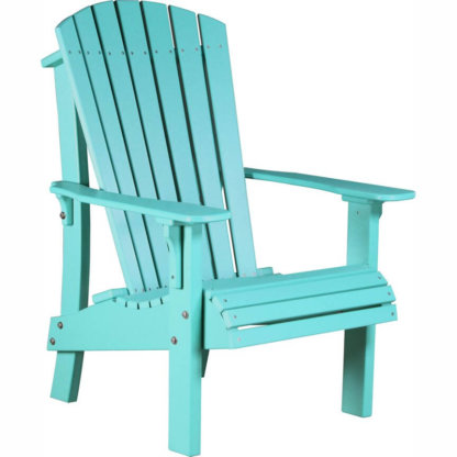 LuxCraft Poly Royal Adirondack Chair Aruba Blue