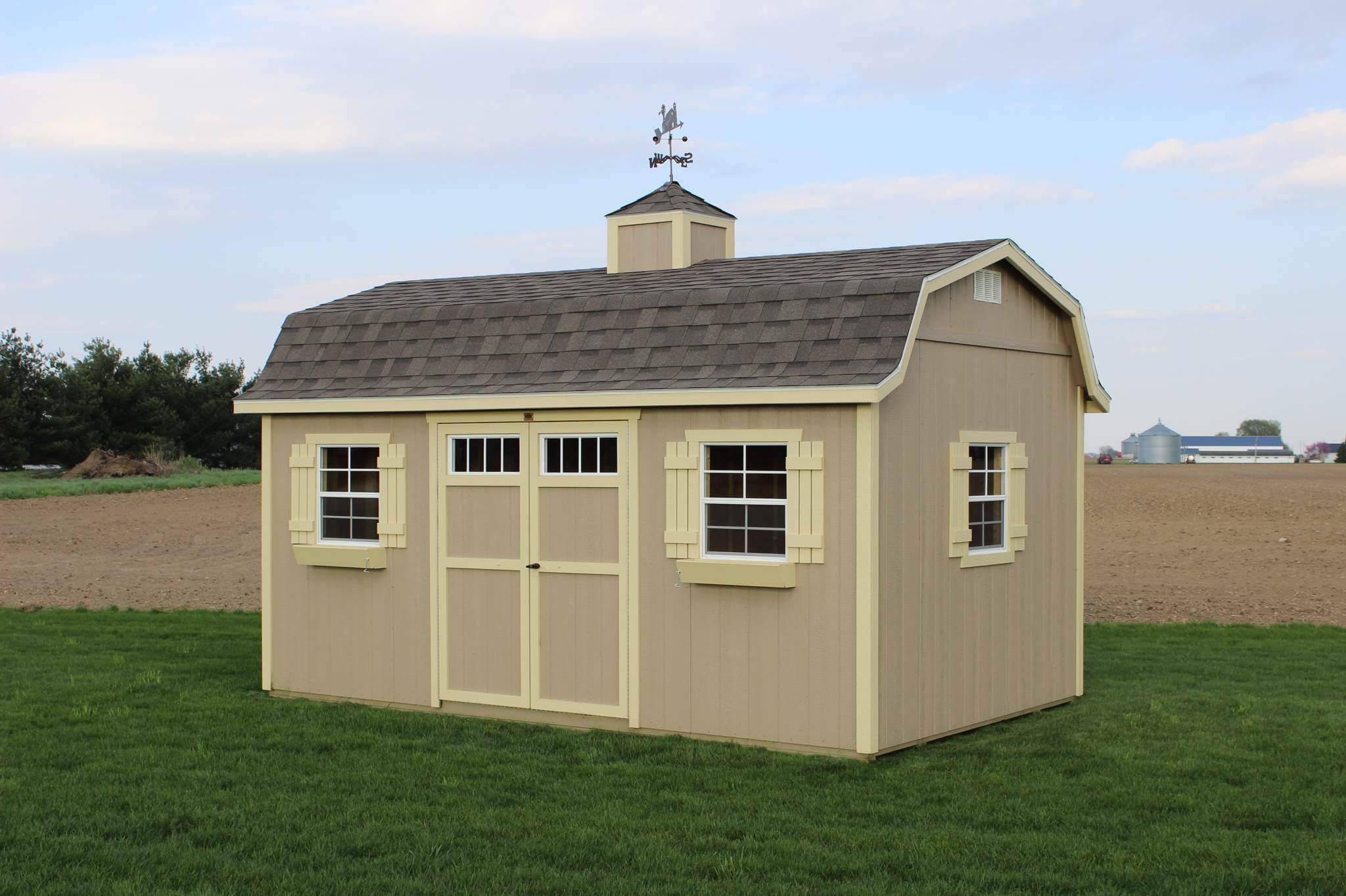 The gambrel lofted mini barn hostetler 39 s furniture for Gambrel barn prices