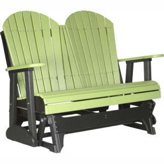 LuxCraft Poly 4' Adirondack Glider Lime Green & Black