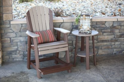 Adirondack Balcony Chair with Lumbar Pillow