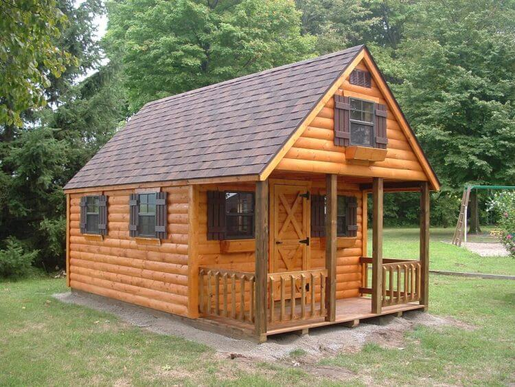 Log cabins hostetler 39 s furniture for Small portable shed