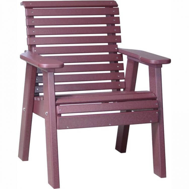 LuxCraft Poly 2' Plain Bench Cherrywood