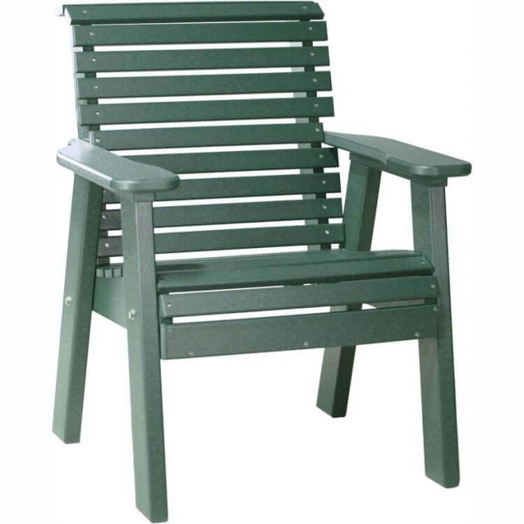 LuxCraft Poly 2' Plain Bench Green