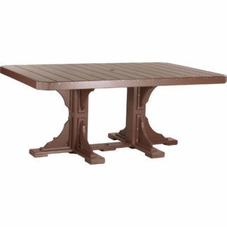 LuxCraft Poly 4x6 Rectangular Table Chestnut Brown