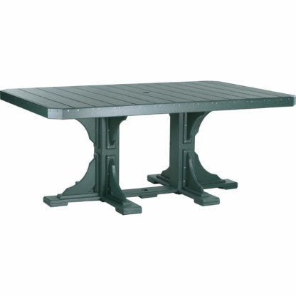 LuxCraft Poly 4x6 Rectangular Table Green