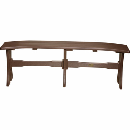 LuxCraft Poly 52'' Table Bench Chestnut Brown