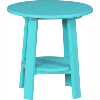 LuxCraft Poly Deluxe End Table Aruba Blue