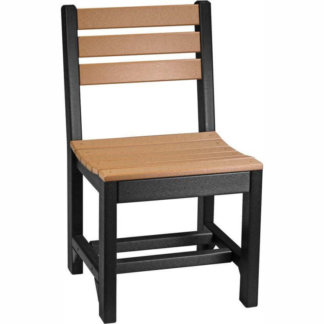 LuxCraft Poly Island Side Chair (Dining Height) Cedar & Black