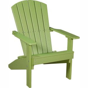 LuxCraft Poly Lakeside Adirondack Chair Lime Green