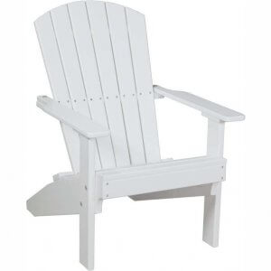LuxCraft Poly Lakeside Adirondack Chair White