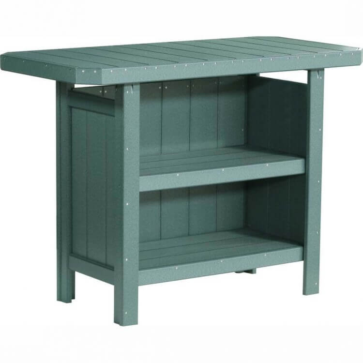 LuxCraft Poly Serving Bar Green