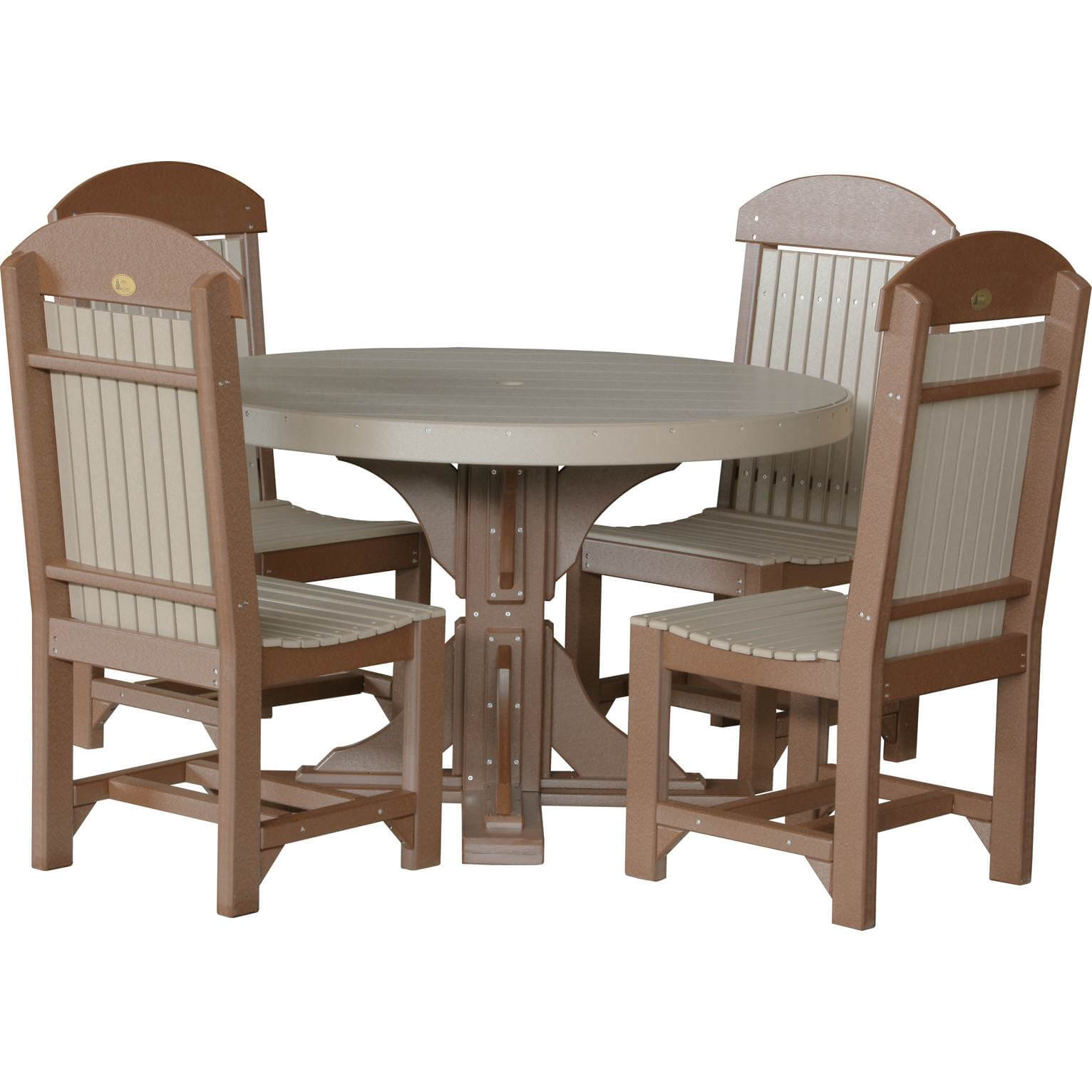LuxCraft Poly 4 Round Table Set · Hostetler s Furniture