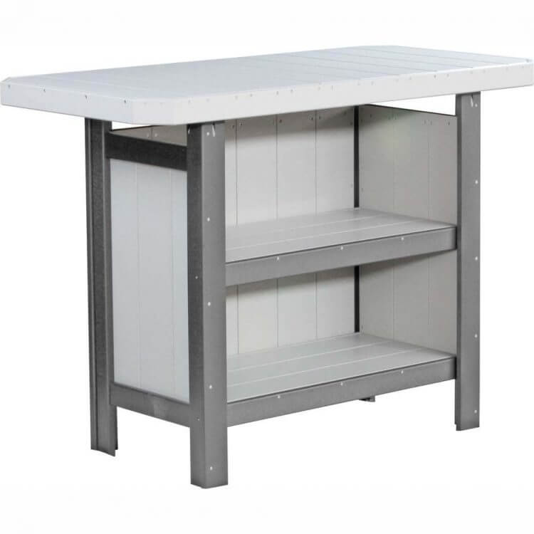 LuxCraft Poly Serving Bar Dove Gray & Slate