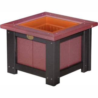 "LuxCraft Poly 15"" Planter & Liner Cherrywood & Black"