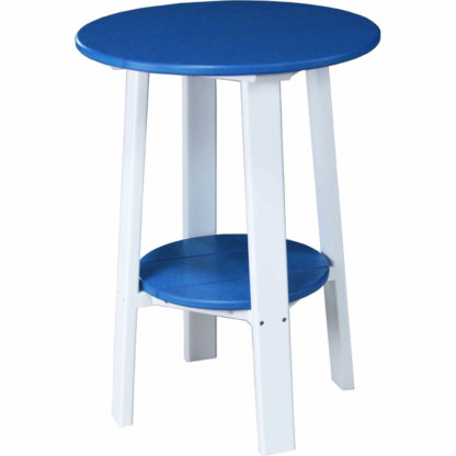 LuxCraft Poly Deluxe End Table 28 Blue & White