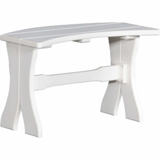 LuxCraft Poly 28'' Table Bench White