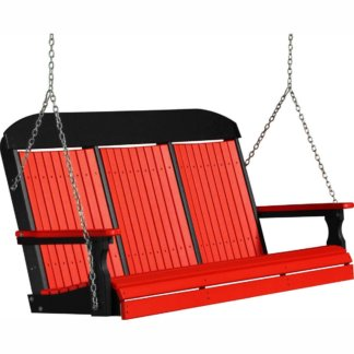LuxCraft Poly 5' Classic Swing Red & Black