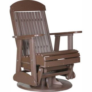 LuxCraft Poly 2' Classic Swivel Glider Chestnut Brown