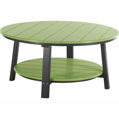 LuxCraft Poly Deluxe Conversation Table Lime Green & Black