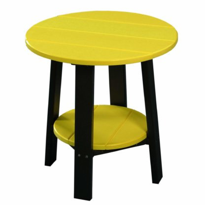 LuxCraft Poly Deluxe End Table Yellow & Black