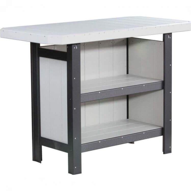 LuxCraft Poly Serving Bar Dove Gray & Black
