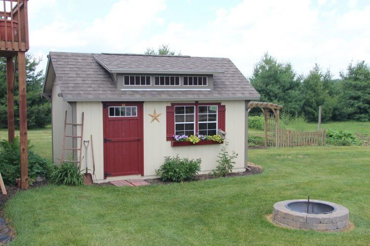Garden Sheds Ohio amish built sheds, mini barns & cabins in indiana · hostetler's