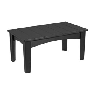 LuxCraft Poly Island Coffee Table Black