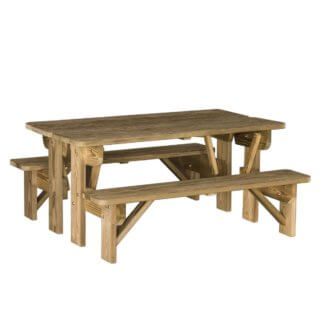 LuxCraft Wood Bench / Table Combo
