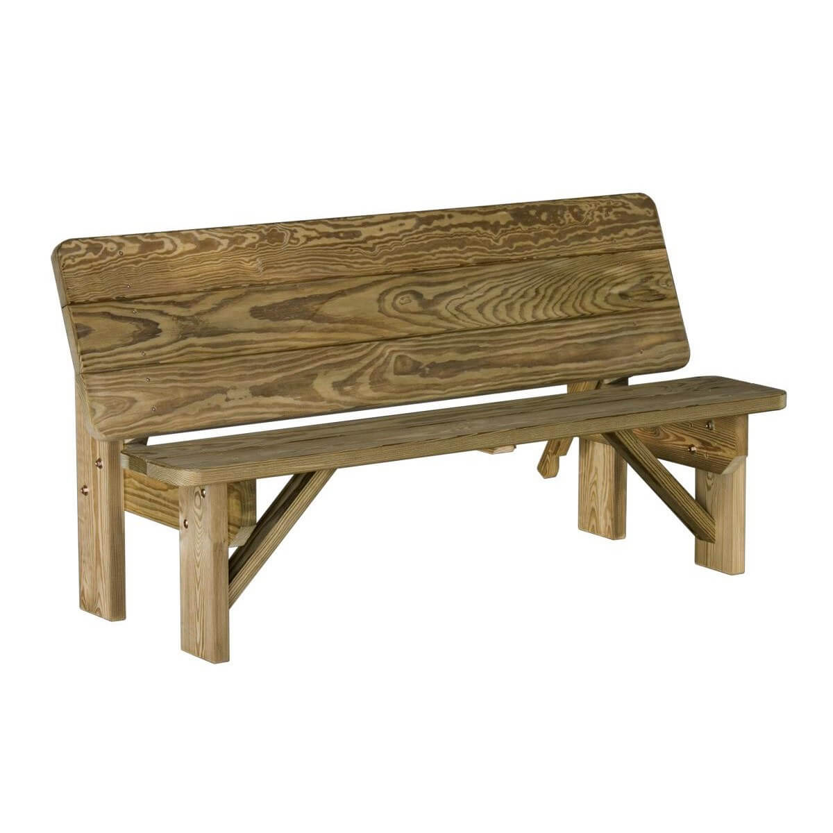 Wood Combo Chair: LuxCraft Wood Bench / Table Combo · Hostetler's Furniture