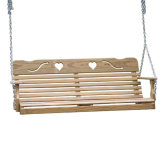 LuxCraft Wood Heart Swing 4'