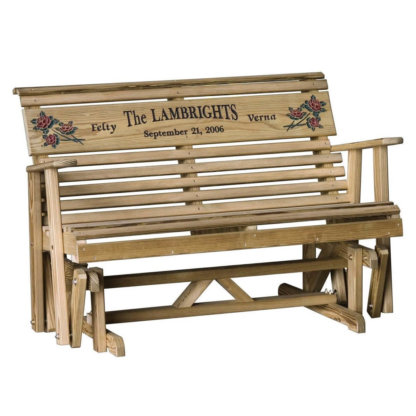 LuxCraft Wood Personalized Glider 4'