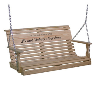 LuxCraft Wood Personalized Swing 4'