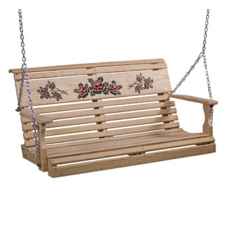 LuxCraft Wood Rose Swing 4'