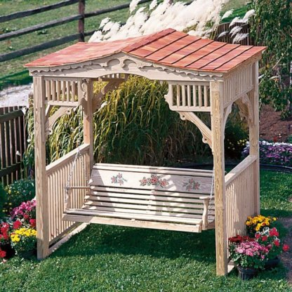LuxCraft Wood Victorian Swing Stand