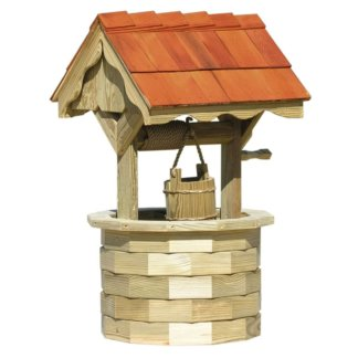 LuxCraft Wood Wishing Well 4'