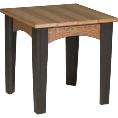 IETAMB Island End Table (Antique Mahogany & Black)