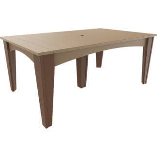 IDT4472RWWCBR Island Dining Table 44'' x 72'' Rectangular (Weatherwood & Chestnut Brown)
